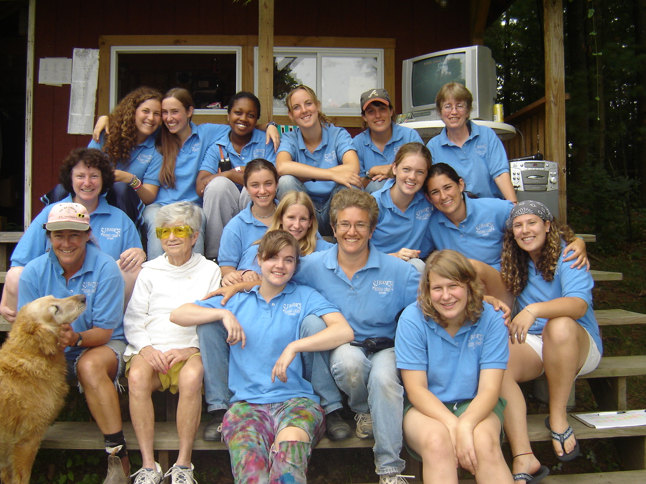 2005 Staff Including Founder Mary E. Haines, at age 91!